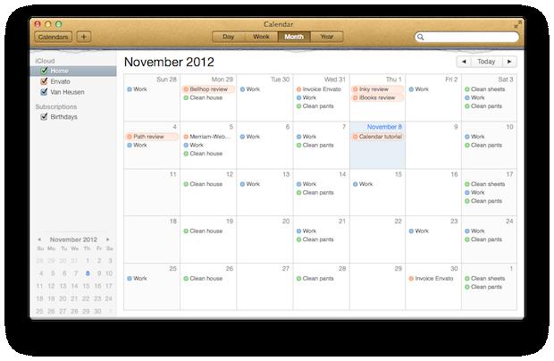 Adding a new calendar is easy.