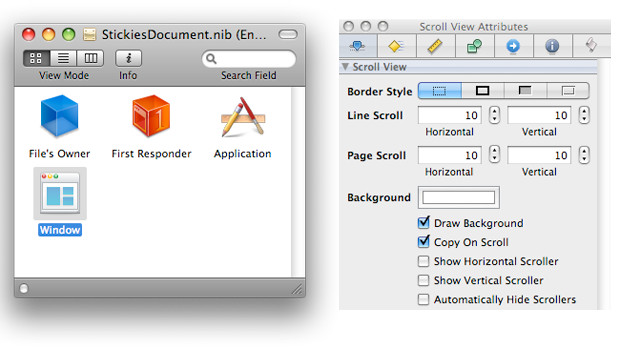 The Icon Box and Inspector