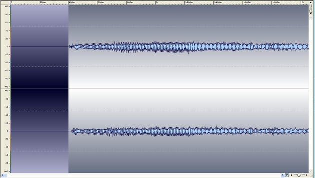 Typical stereo wave, zoomed in at the top of the track