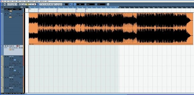 A stereo wave inserted into a typical DAW