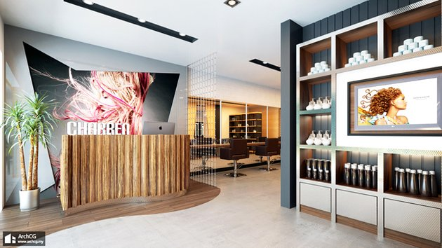 Cgtuts+ Charren Salon Reception Area Render critique