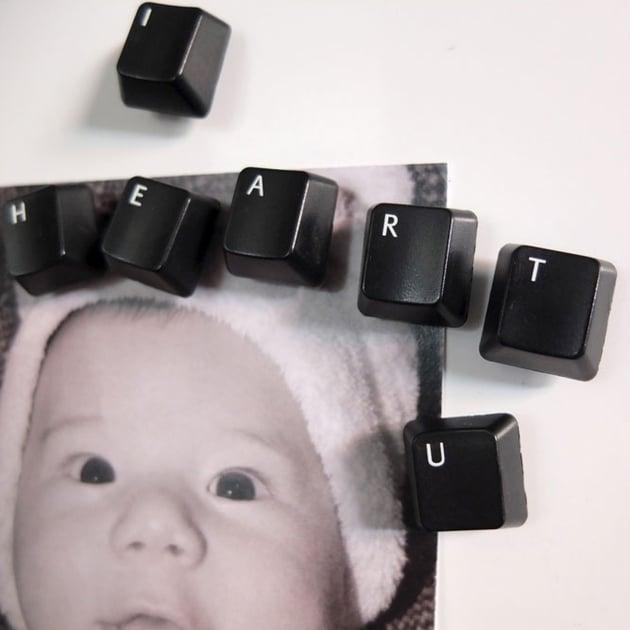 DIY Computer Keyboard Magnets