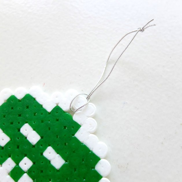 Perler Beads Space Invaders Christmas Ornaments