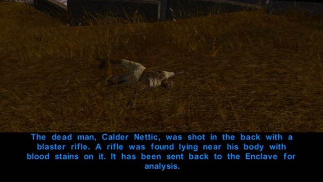 The infamous KOTOR murder mystery investigation Whodunit