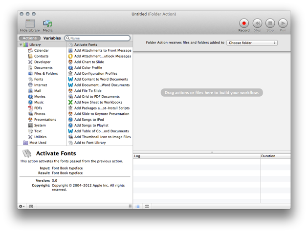 The user interface for Automator can be a bit confusing at first, but there isn't much too it.