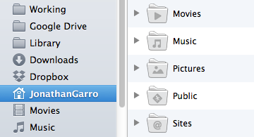 Remember that your Home folder is the foundation of file organization.