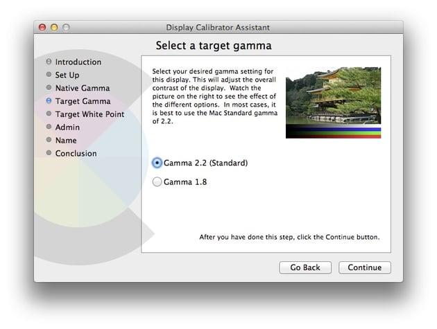 Calibrator Assistant to select target gamma
