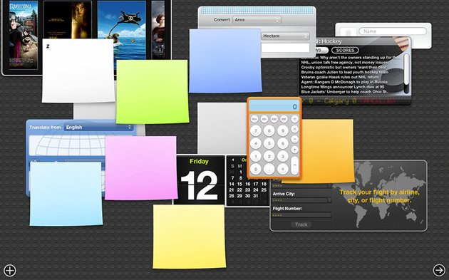 Chaotic Dashboard Screen
