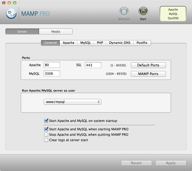MAMP PRO provides more features than MAMP at a small cost.