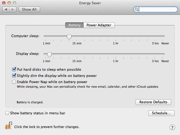 Energy Saver controls how our Mac operates when left alone