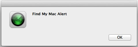 You Mac not only chimes, but it also displays an alert.