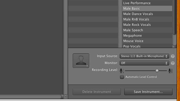 Changing the microphone to use is a little more involved than changing the setting in the project