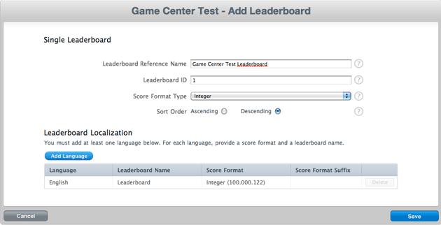Add Leaderboard