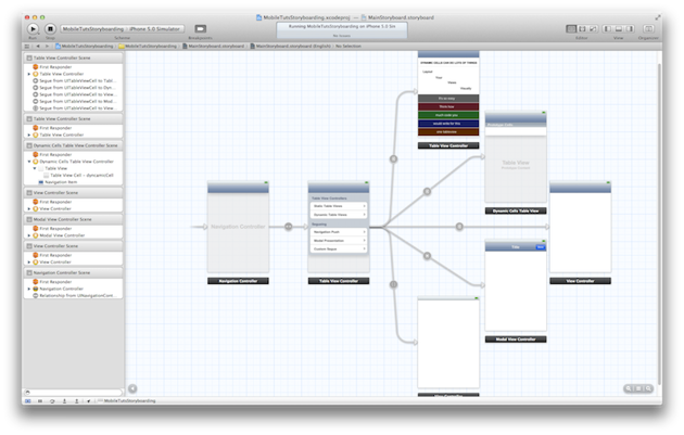 UIStoryboard Editor View Zoomed Out