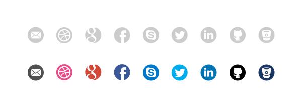 32x32 px social icons