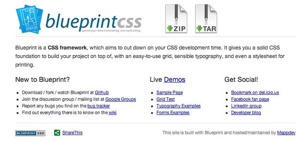 Blueprint: A CSS Framework