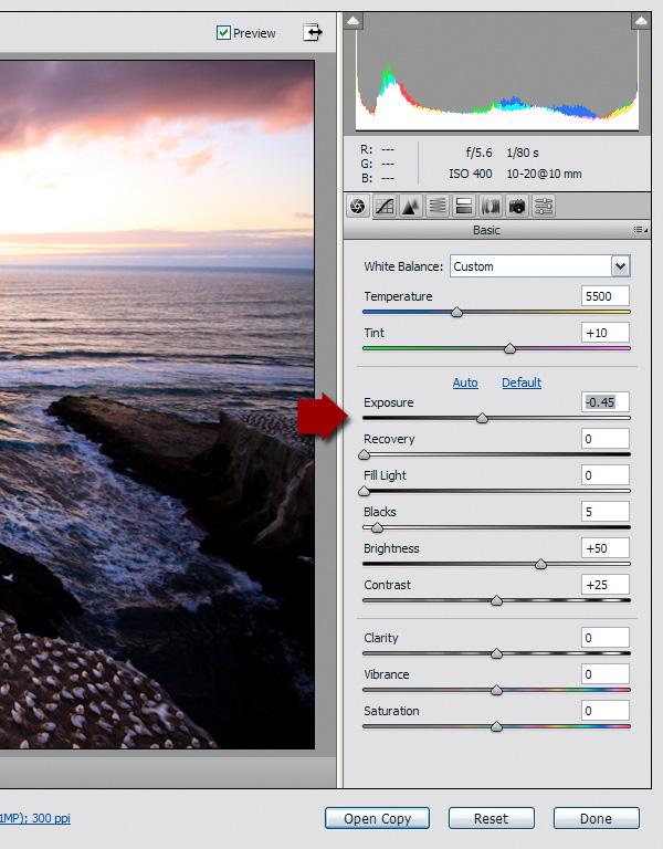 exposure blending RAW tutorial