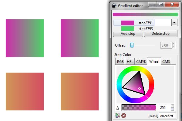 inkscape gradient editor
