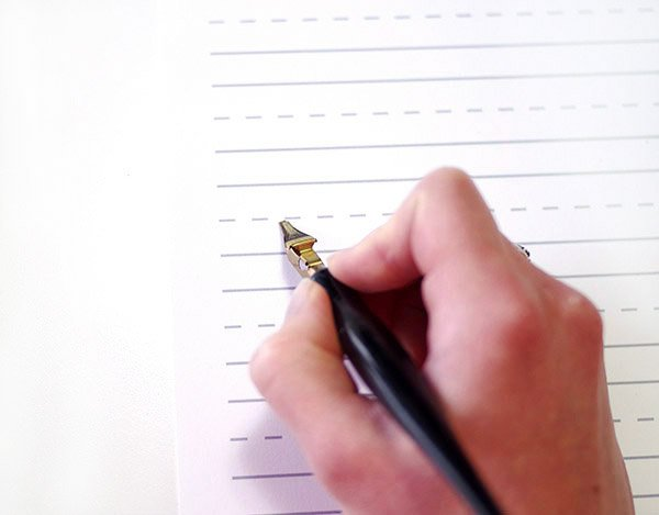 calligraphy intro - putting pen to paper