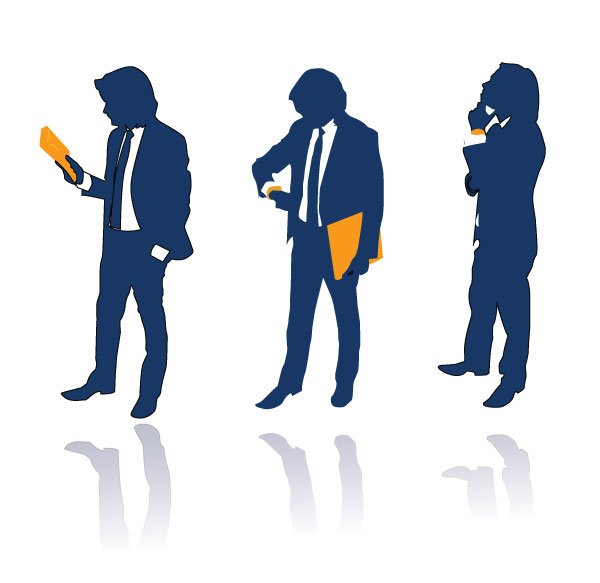 posed businessman free vector silhouettes