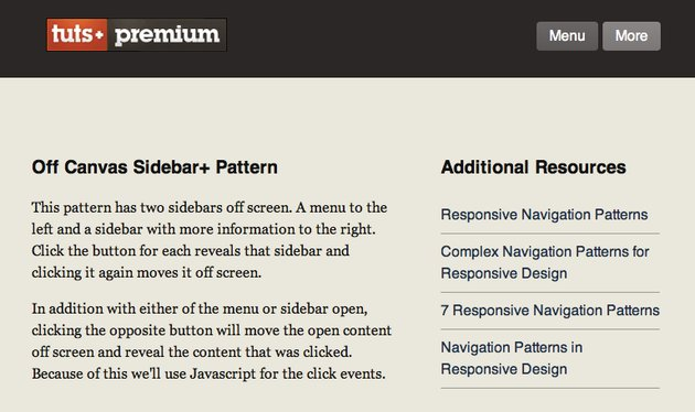 The content and sidebar panels visible on medium screens
