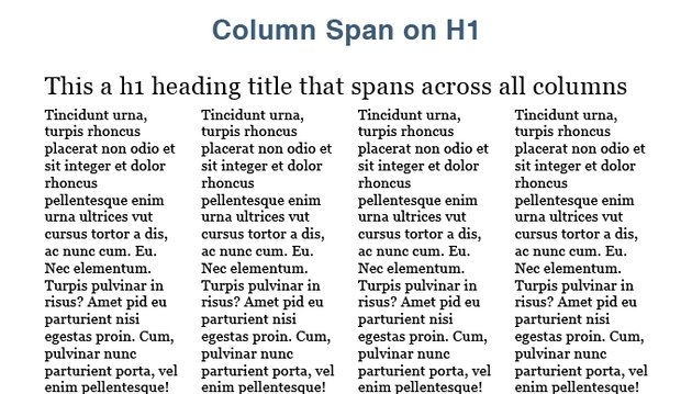 CSS3 Multi Column span