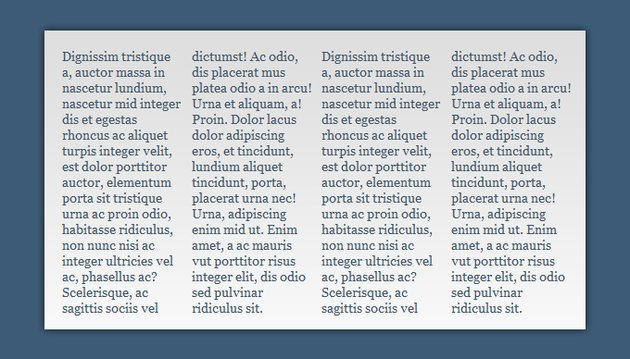 A simple example of the CSS3 multi column layout module