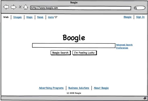 Sample Balsamiq wireframe from the Balsamiq website