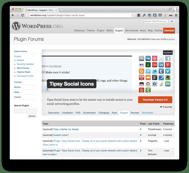 WordPress Plugin Repository Support