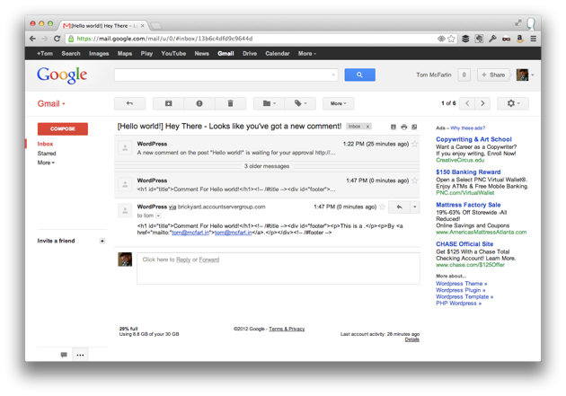 Text Based Emails