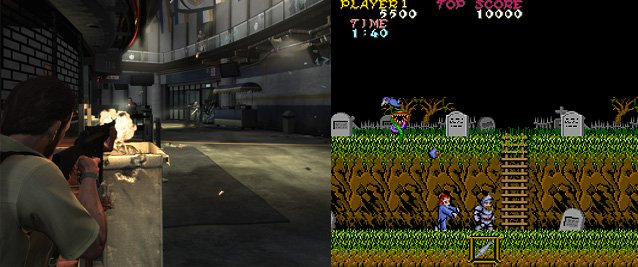 Max Payne and Ghosts'n Goblins