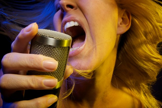 A vocalist will often sing more intensely when an actual recording take happens. Photo: PhotoDune.