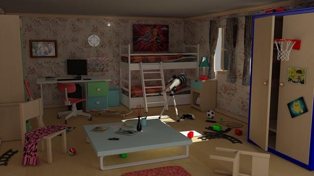 Cgtuts+ 3d cg Children's Room critique
