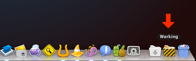 """A """"working"""" folder is a great way to keep loose items off of your desktop."""