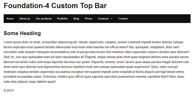 foundation-4-custom-top-bar-html-layout
