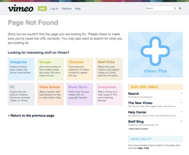 Vimeo 404