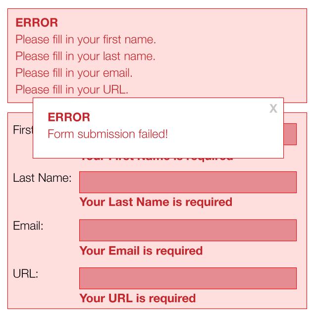 Overwhelming form errors