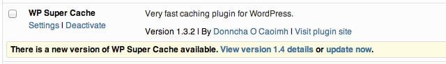 Plugin Admin Update Now
