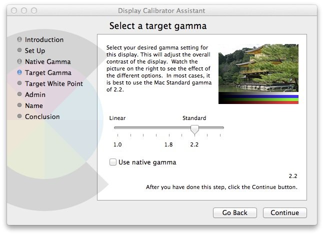 Calibrator Assistant Target Gamma