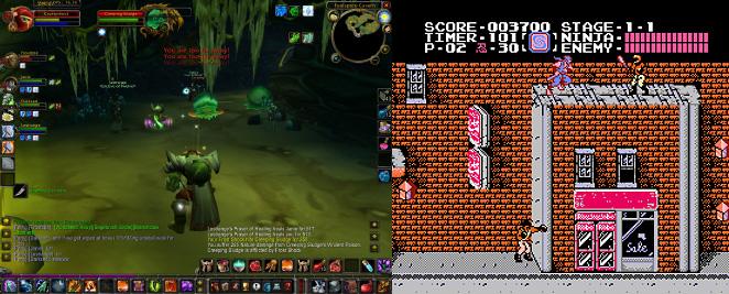 World of Warcraft and Ninja Gaiden