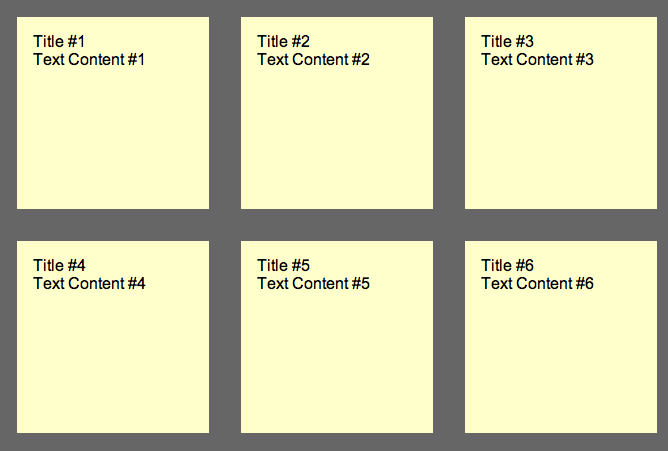 Step1: a series of yellow boxes