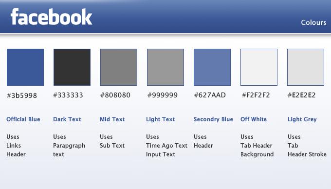 facebook app colors