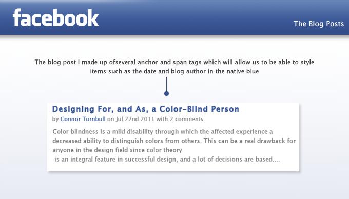webdesigntuts Facebook app blog posts