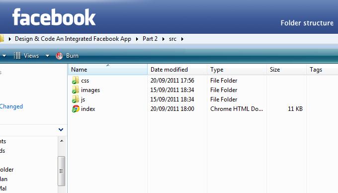 Facebook app folder structure