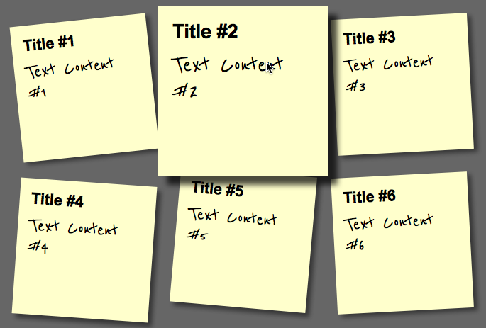 Step4: Zooming the current sticky note