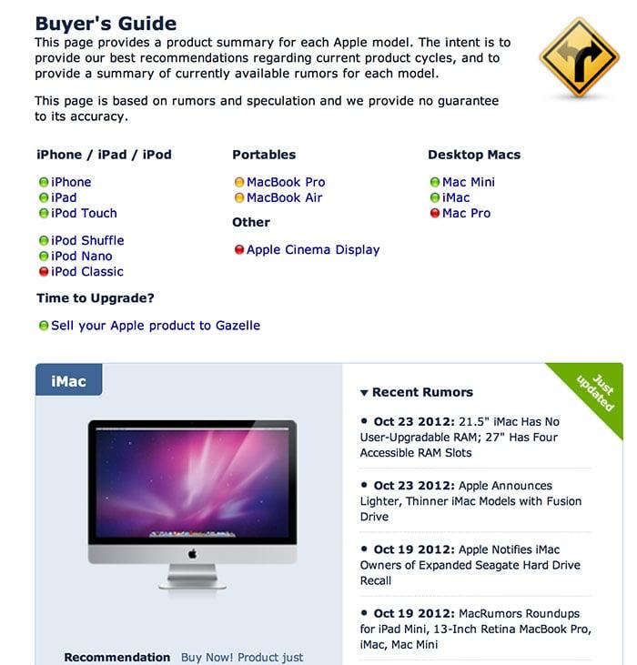 MacRumors Buyer's Guide