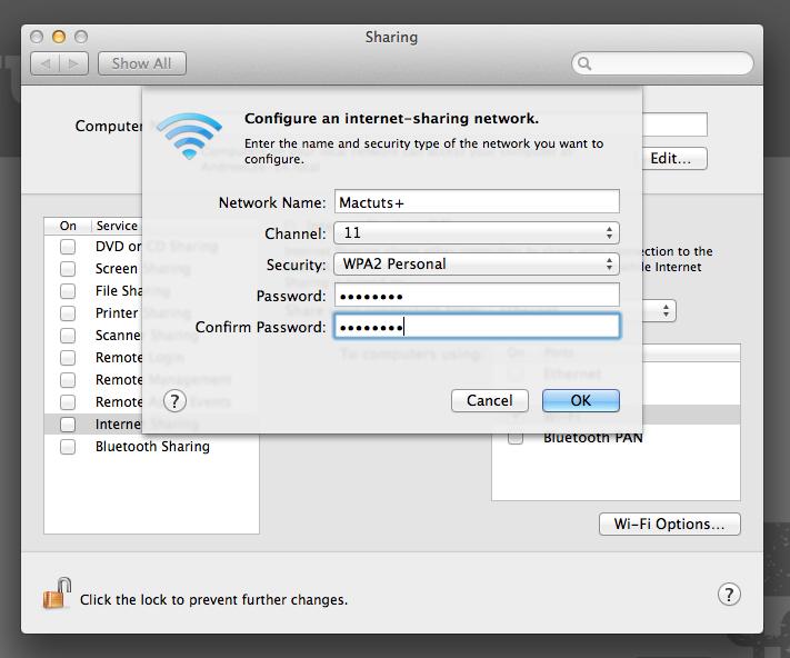 Wi-Fi Option Menu