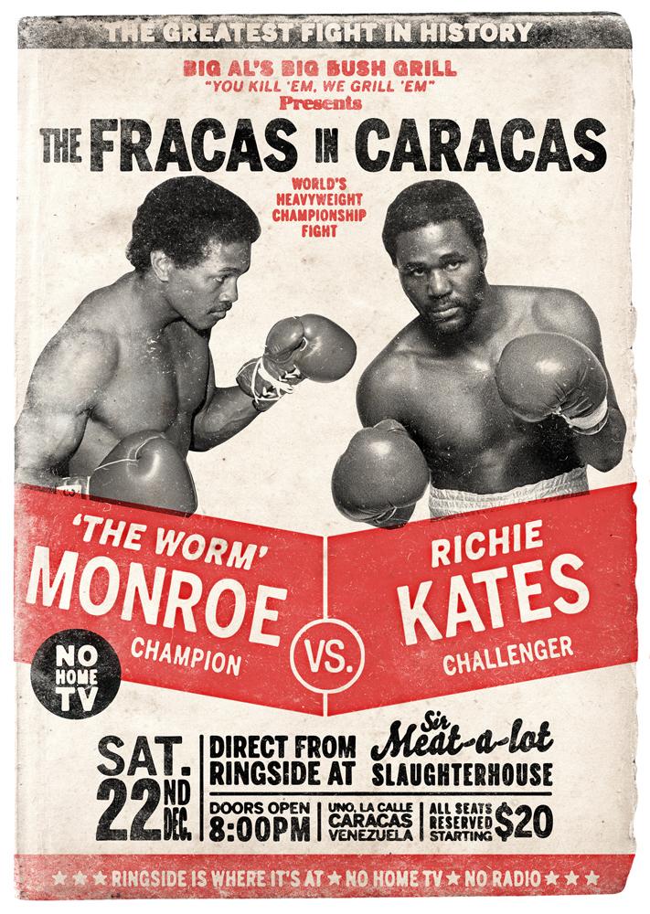 Retro boxing poster