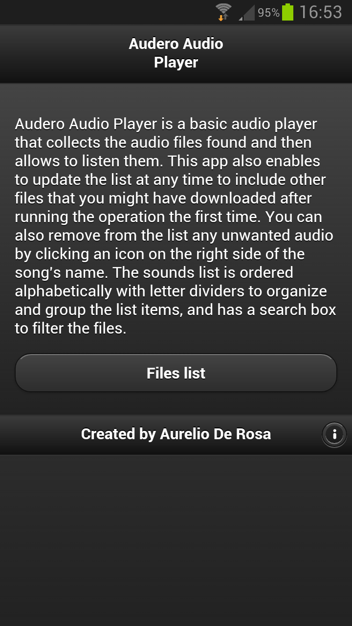 Audero Audio Player homepage
