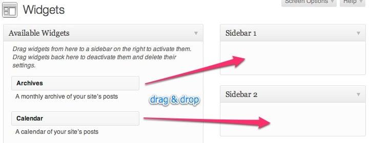 2 Sidebars registered